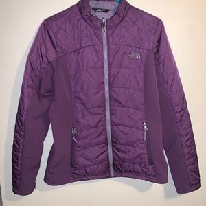 North face thermo coat purple light jacket